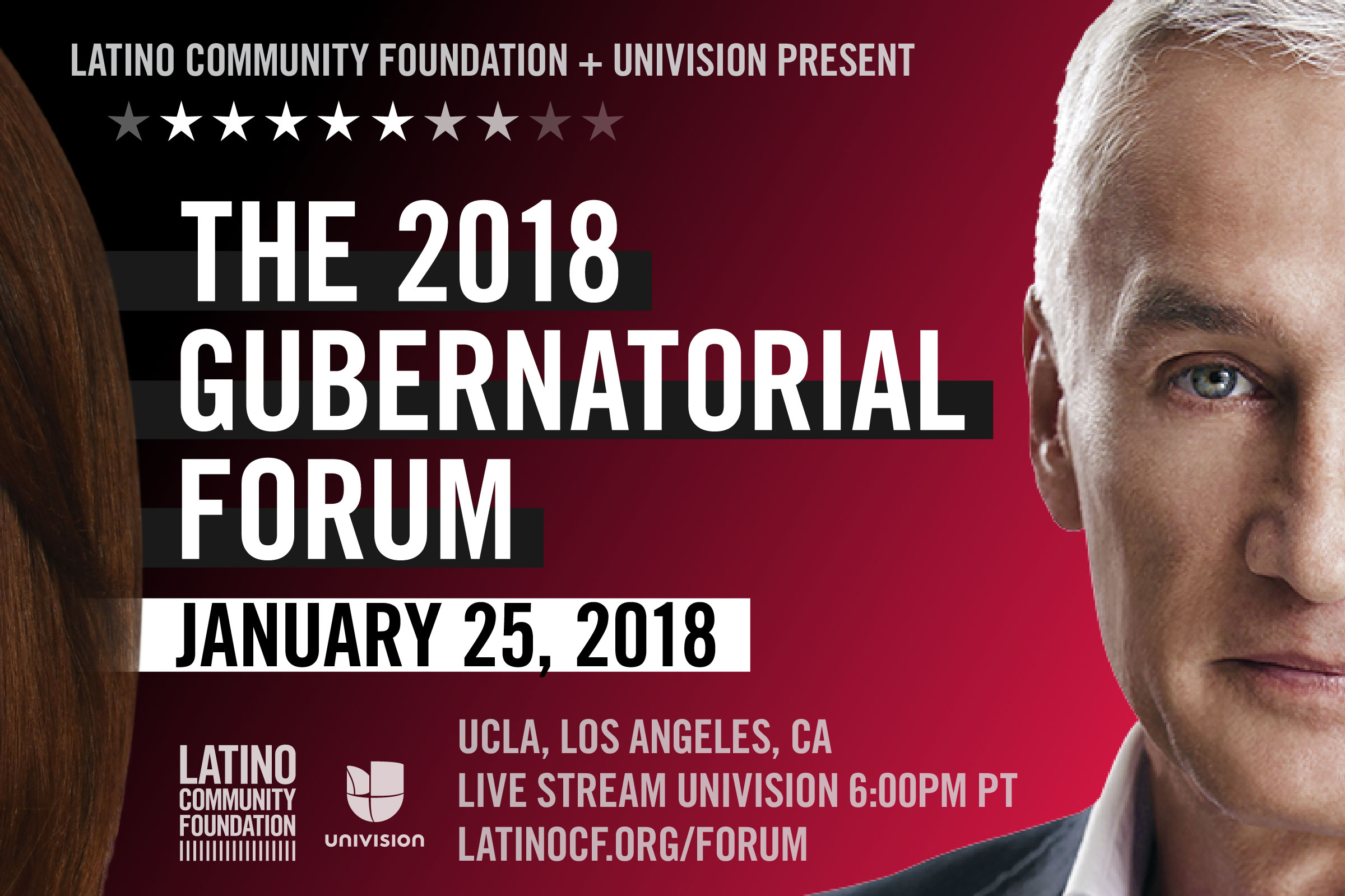 The Latino Community Foundation Is Partnering With Univision To Host The 2018 Gubernatorial Forum