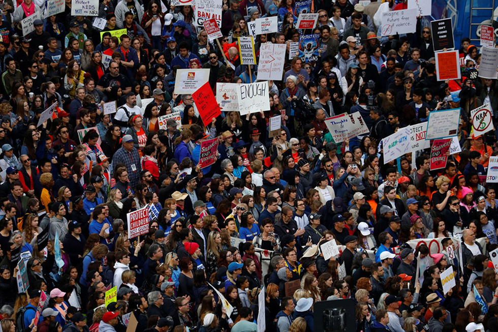 People Gather During A March For Our Lives Event In California