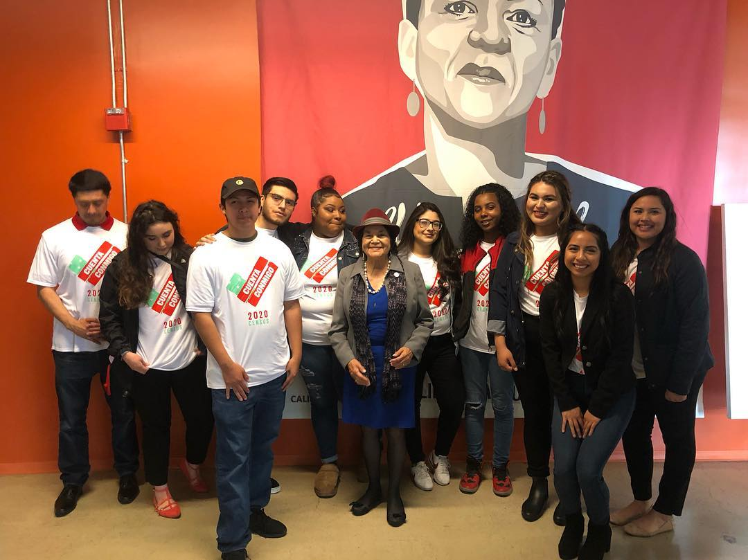 Census 2020 planning with Dolores Huerta